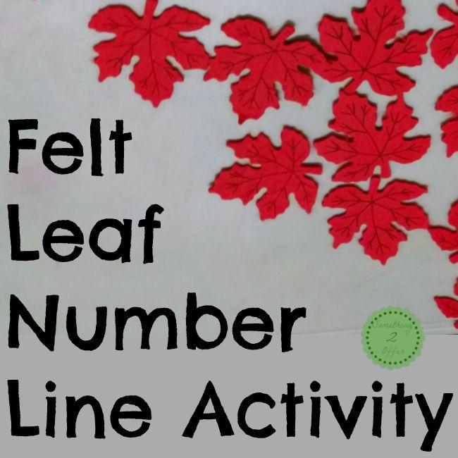 felt leaf number line activity