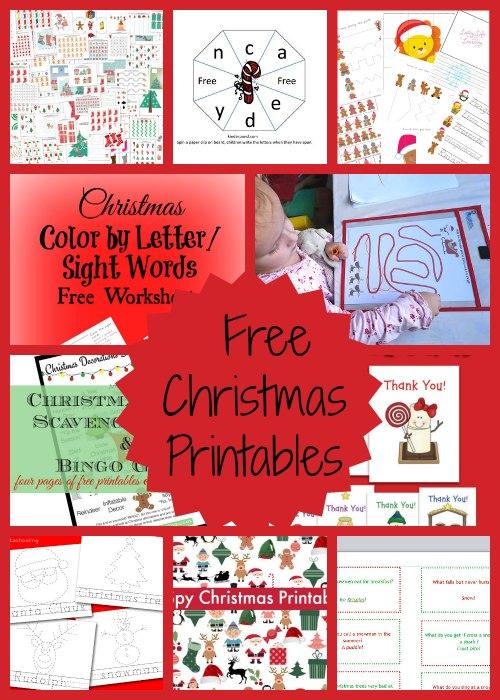 Free Christmas Printables to keep kids Busy