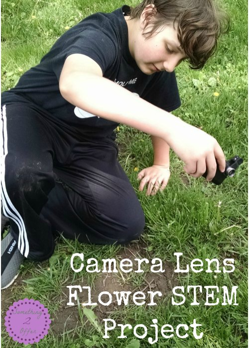 Camera Lens Flower STEM project
