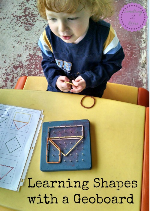 Learning Shapes with a Geoboard