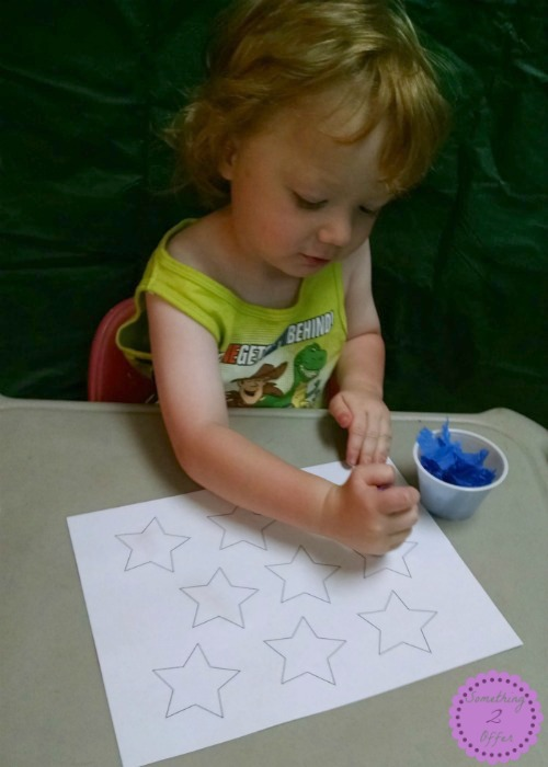 Star Crepe Paper Art
