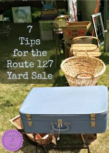 7 tips for the Route 127 Yard Sale