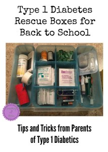 Type 1 Diabetes Rescue Boxes for Back to School