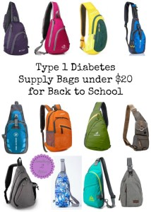 Type 1 Diabetes Supply Bags under $20 for Back to School