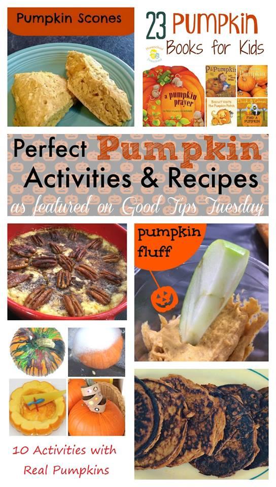 pefect pumpkin activities and recipes