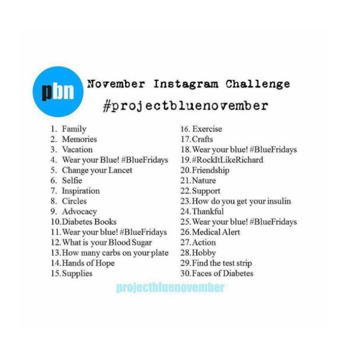 Project Blue November Instagram Challenge