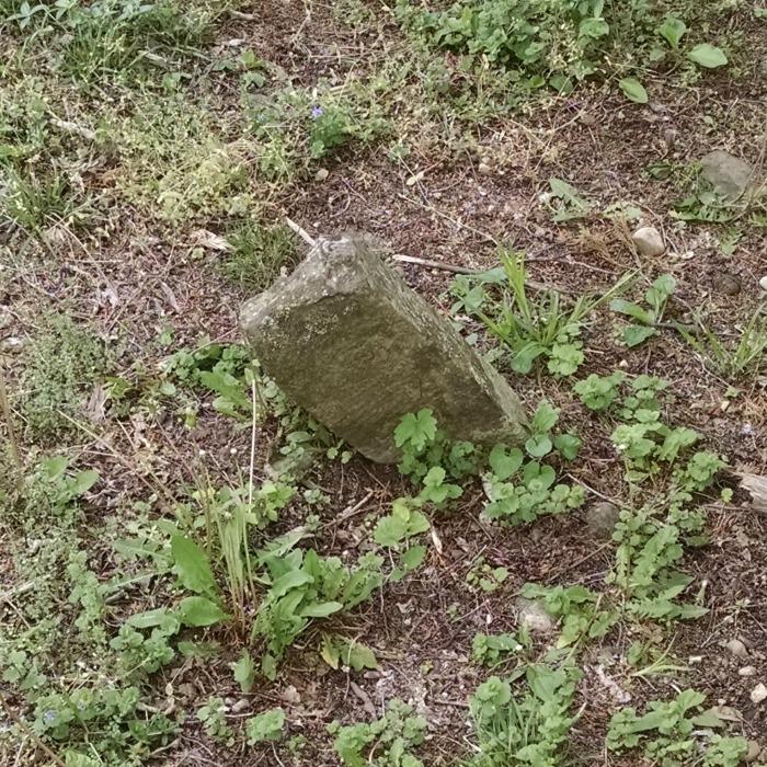 Tombstone remanent Jackson Cemetery