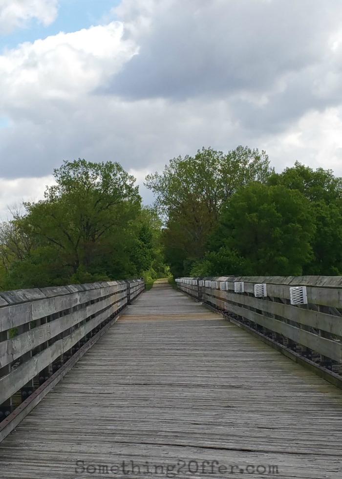 Wooden Bridge over Great Miami River