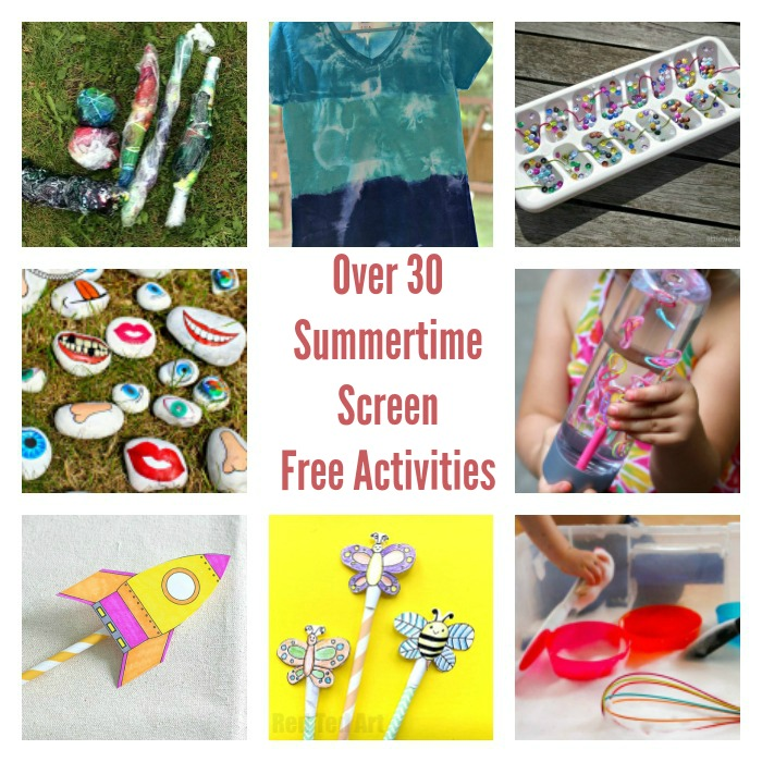Summer Screen Free Activities