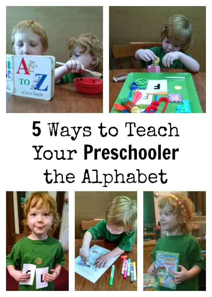 5 Ways to Teach  Your Preschooler  the Alphabet