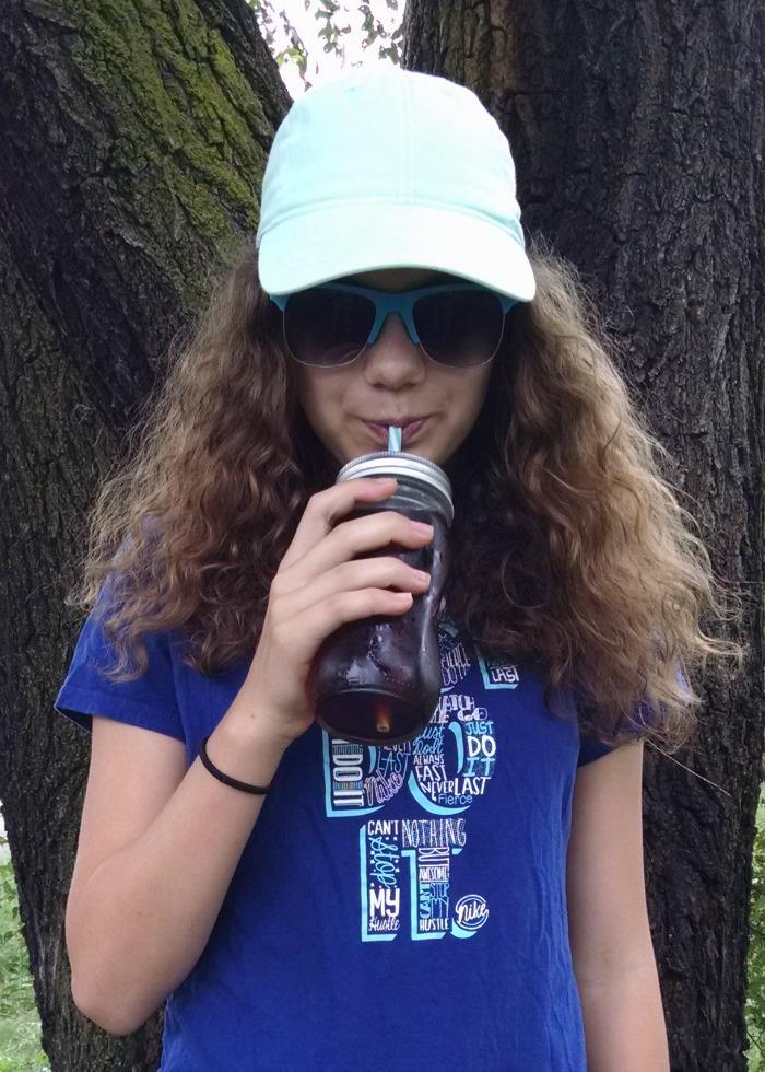 Princess sipping Swiss Premium Tea