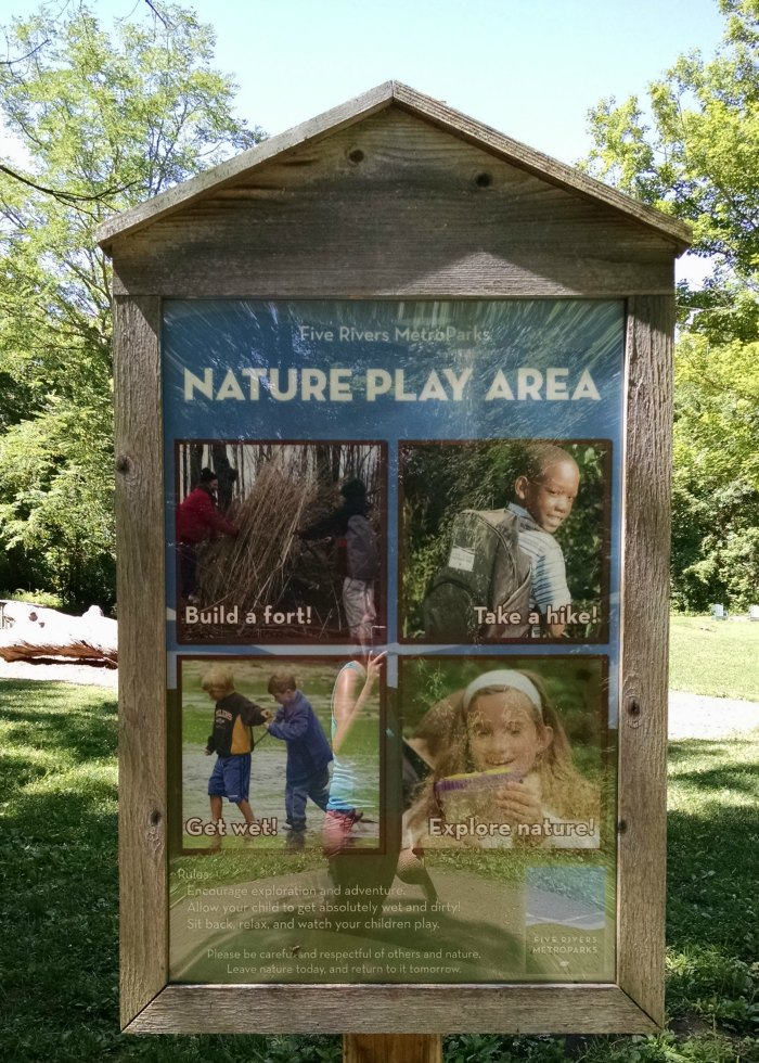 FRMP Nature Play Area Sign