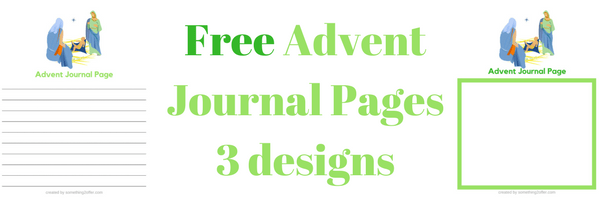 Free Advent Journal Pages email header