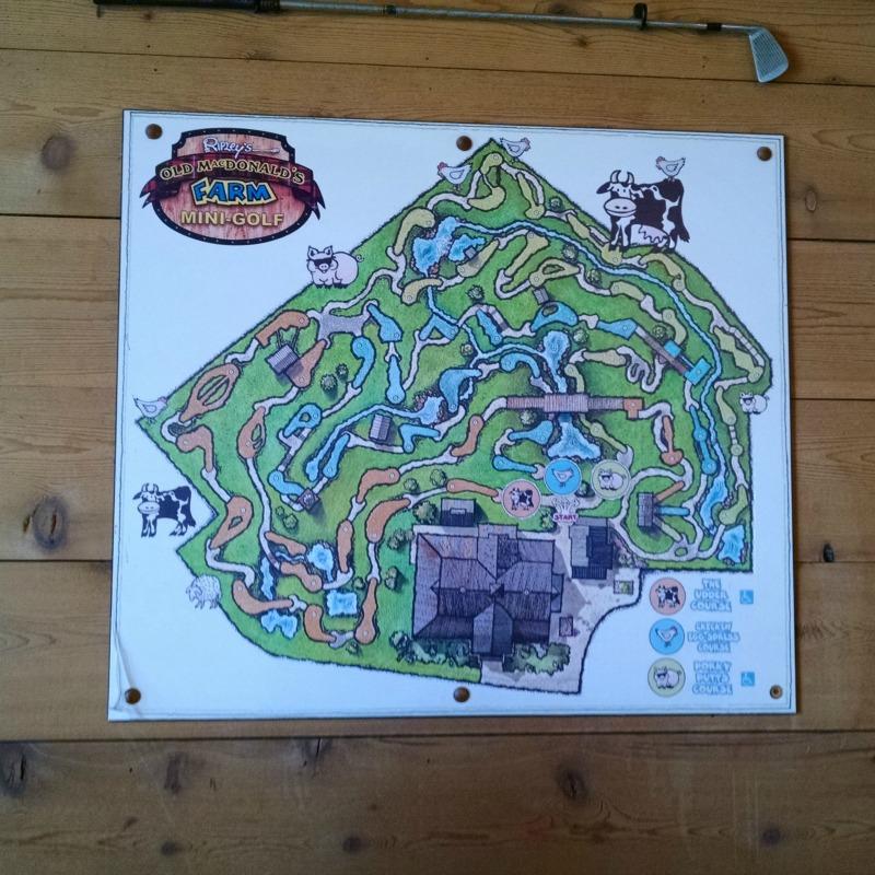 Ripley's Old McDonald's Farm Mini-Golf map