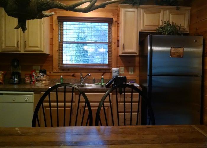 kitchen chairs and fridge