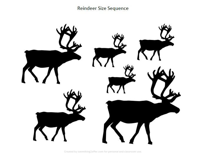 Reindeer Preschool Printable Pack size sequence