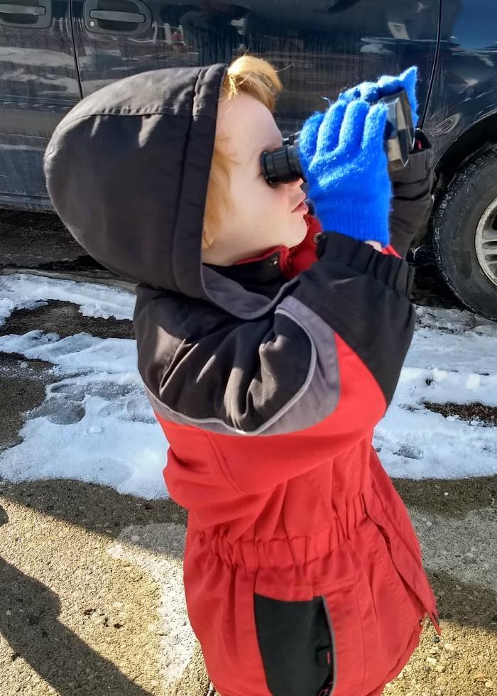 Lil' Red binoculars