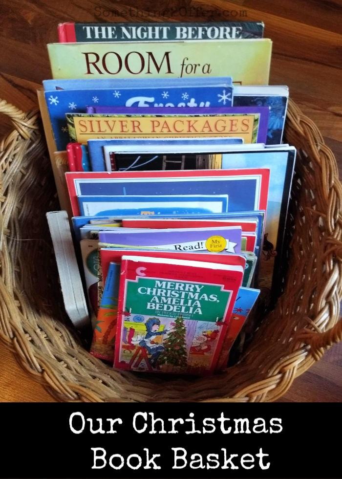 Our Christmas Book Basket