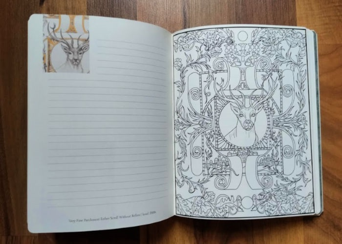 The Illustrated Word Coloring Journal inside