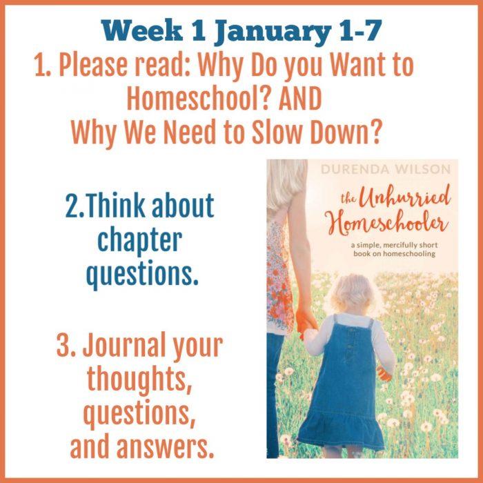 The Unhurried Homeschooler Week 1