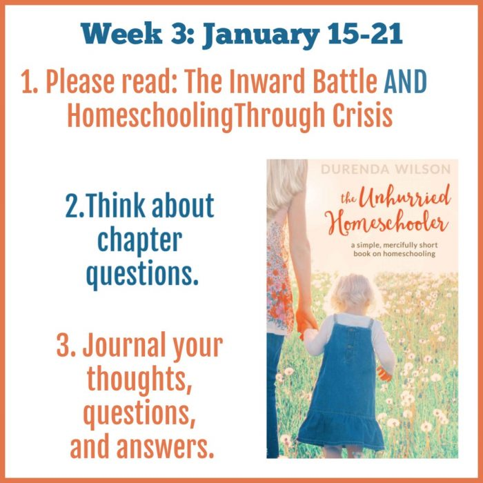 The Unhurried Homeschooler week 3