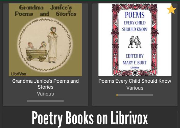 Poetry Books on Librivox