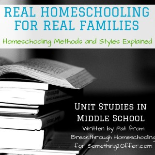 Real Homeschool unit studies middle
