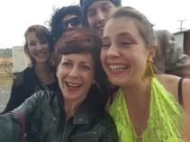White receival party selfie