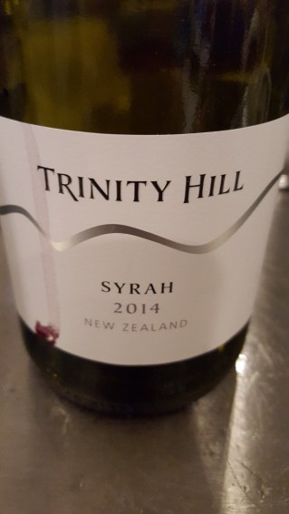 2014 Trinity Hill Hawkes Bay Syrah; vibrant and spied with mocha and sweet cigar