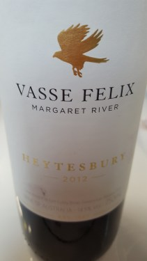 Vasse Felix Heytesbury Margaret River Australia; 77% Cabernet Sauvignon, Malbec, Petit Verdot; knocked my socks off! rich, smooth, smoked, dark, LOVELY; £45