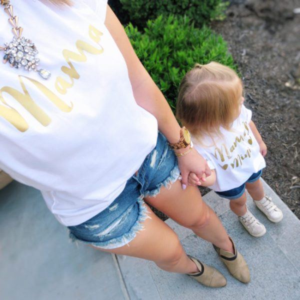 Lovely For Littles Matching Twinning Mommy and Me Tee Shirts, Etsy