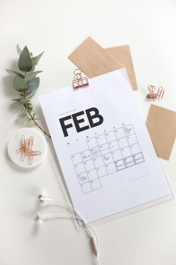 Top Five 2017 Free Printable Calendars by Something About Navy