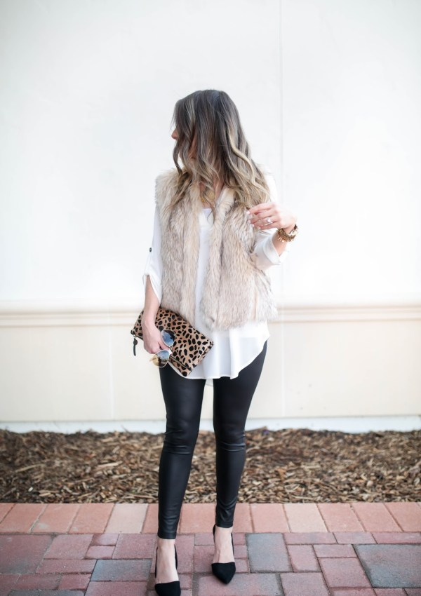 Date Night Look & How to Wear a Fur Vest