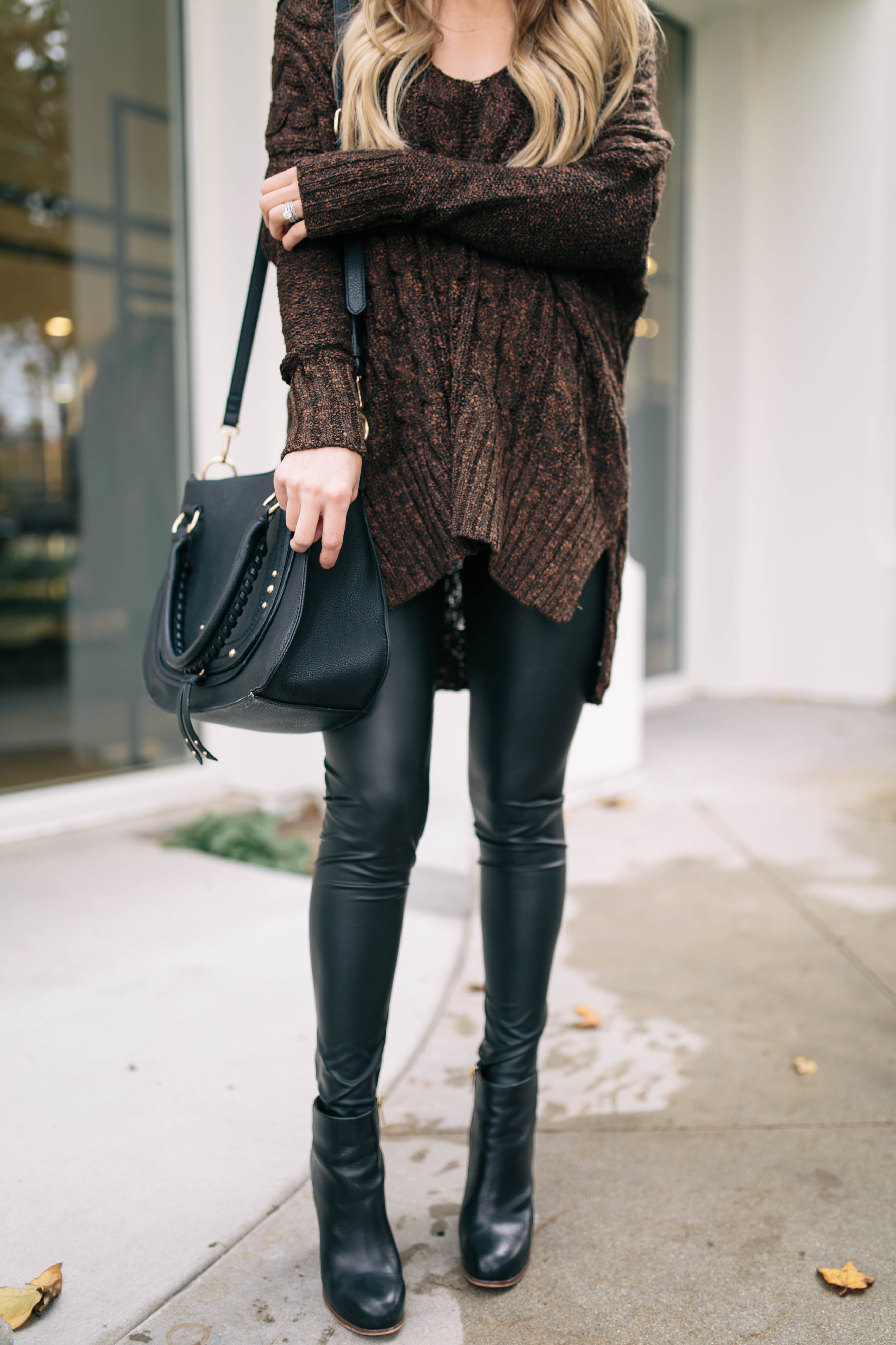 Brown Cable Knit Sweater Something Beautiful