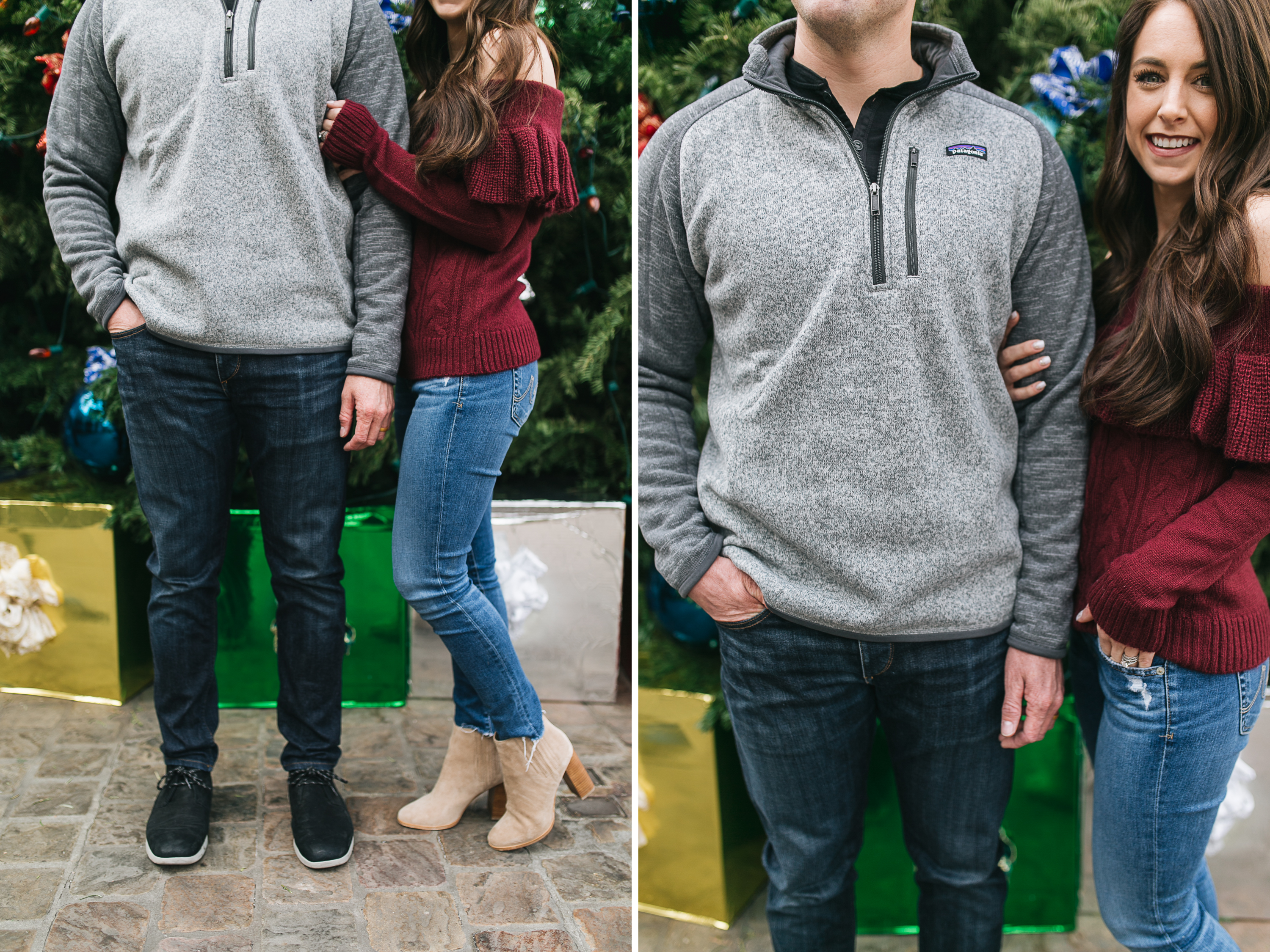 Style blogger Daryl-Ann Denner shares last minute gift ideas for guys for Christmas including Patagonia sweatshirts, ugg slippers, bluetooth headphones, and a drone