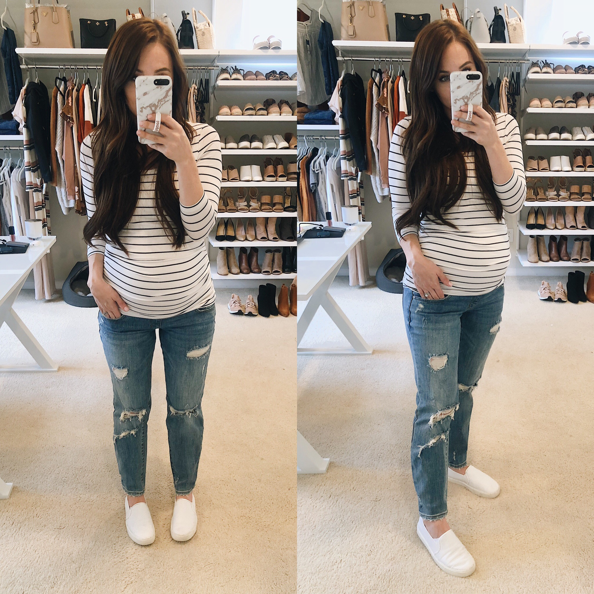 2ec83a5c648bd Jeans: A Pea in the Pod (wearing size 25) | Top: A Pea in the Pod | Shoes:  Nordstrom