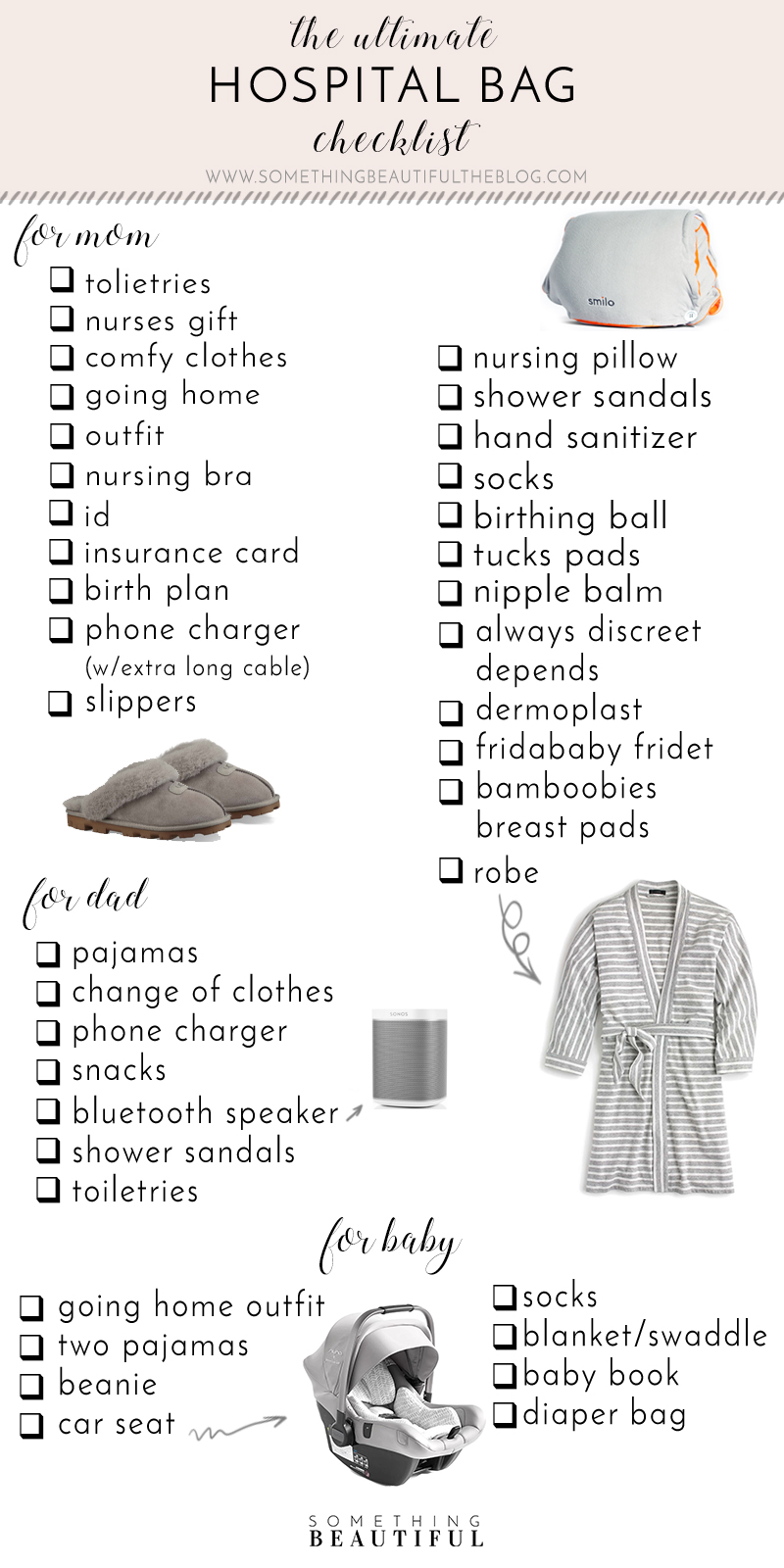 photograph relating to Printable Hospital Bag Checklist for Labor and Delivery identified as What Im Packing within My Healthcare facility Bag Some thing Eye-catching