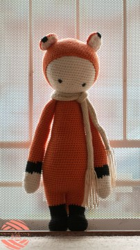 crochet amigurumi fibi the fox lalylala