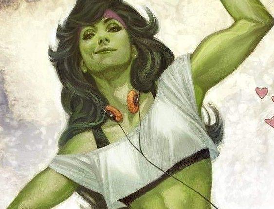 SHe-Hulk as drawn for the Marvel Comics #1000.