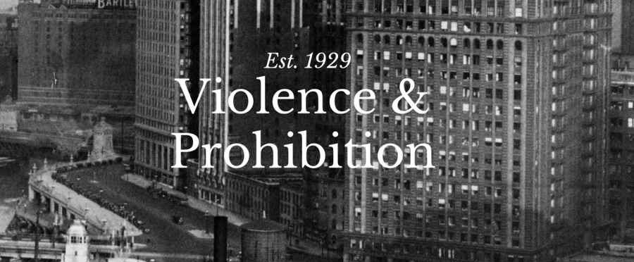 Part of the cover for the Hood: Violence  & Prohibition.