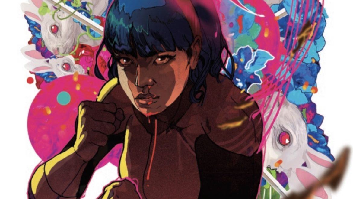Karma stands ready on the cover of New Mutants #18, after the review of TMNT: The Last Ronin.