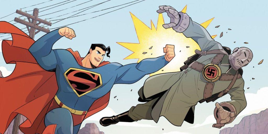 Superman Smashes the Klan: Superman beats up a Nazi.