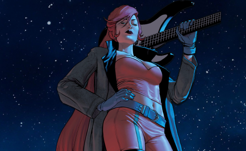 Elsa Bloodstone stands with the stars to her back, as one of my recommendations to be added into Midnight Suns.