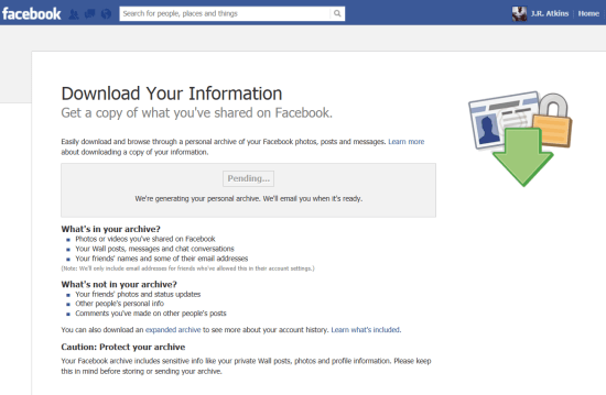 J.R. Atkins tells you hhow to download your FB data