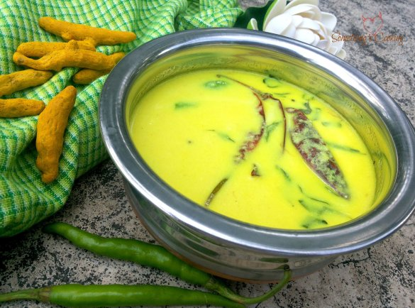 Spiced Cooked Buttermilk - Pulishery - Kerala-Recipe