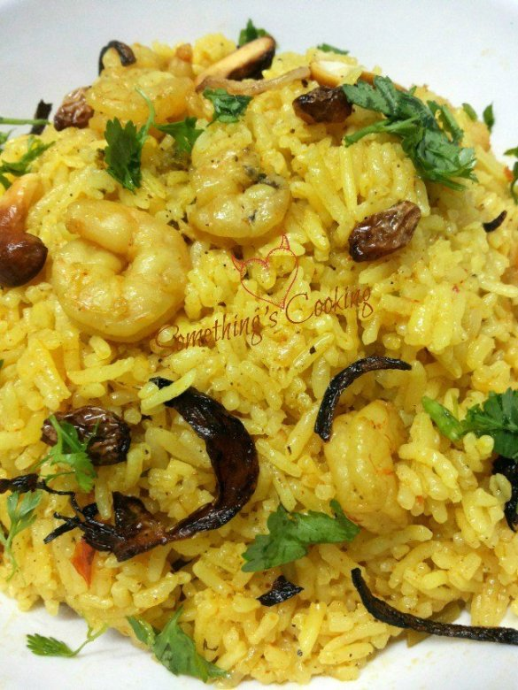 prawn biriyani- recipe-kerala