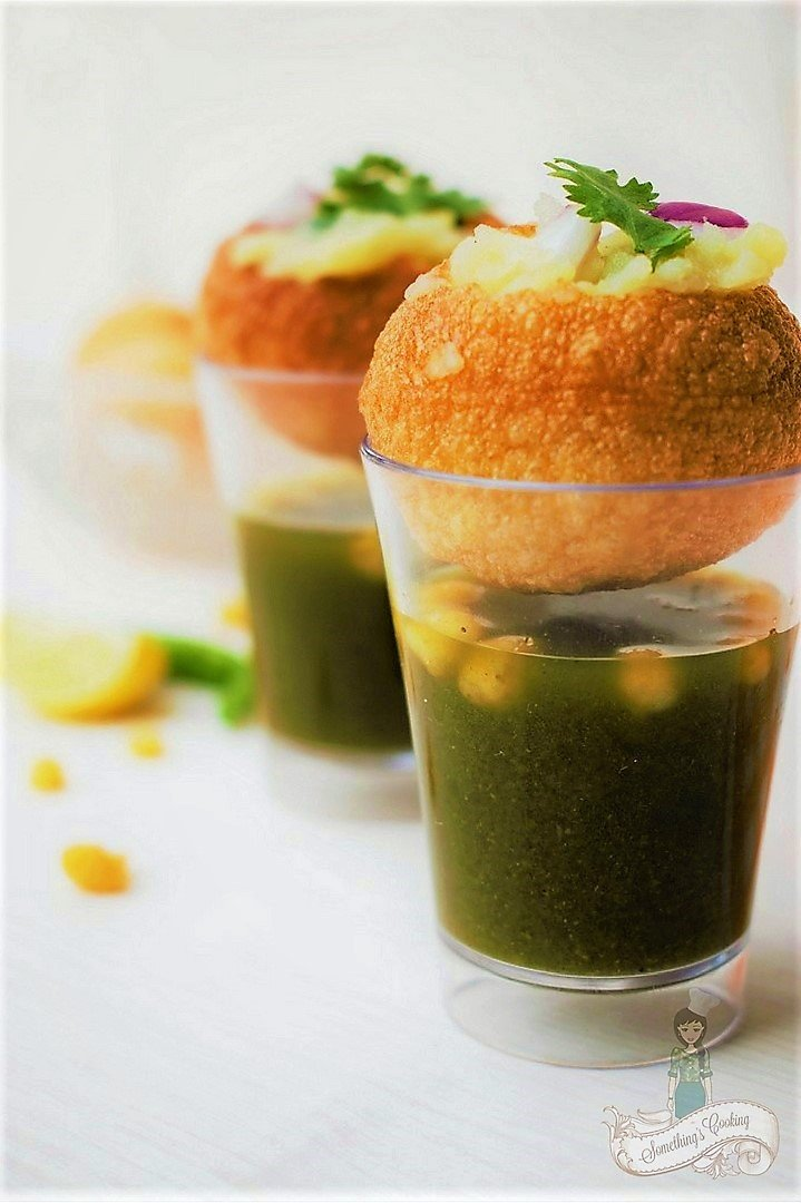 How to make stuffing for Pani Puri - How to assemble Pani Puri - Pani Puri Images