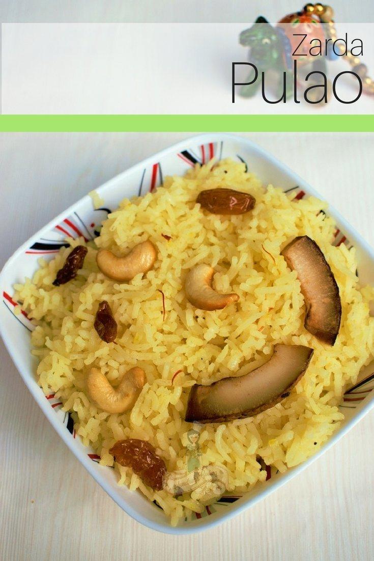 Zarda Pulao Recipe - Zarda Pulao sweet - Zarda Pulao banane ki vidhi