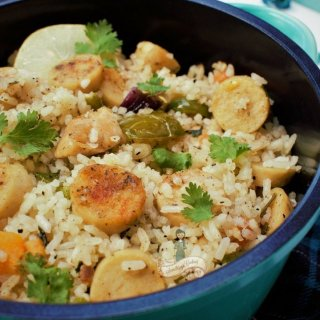 Chicken and Sausage Jambalaya at home