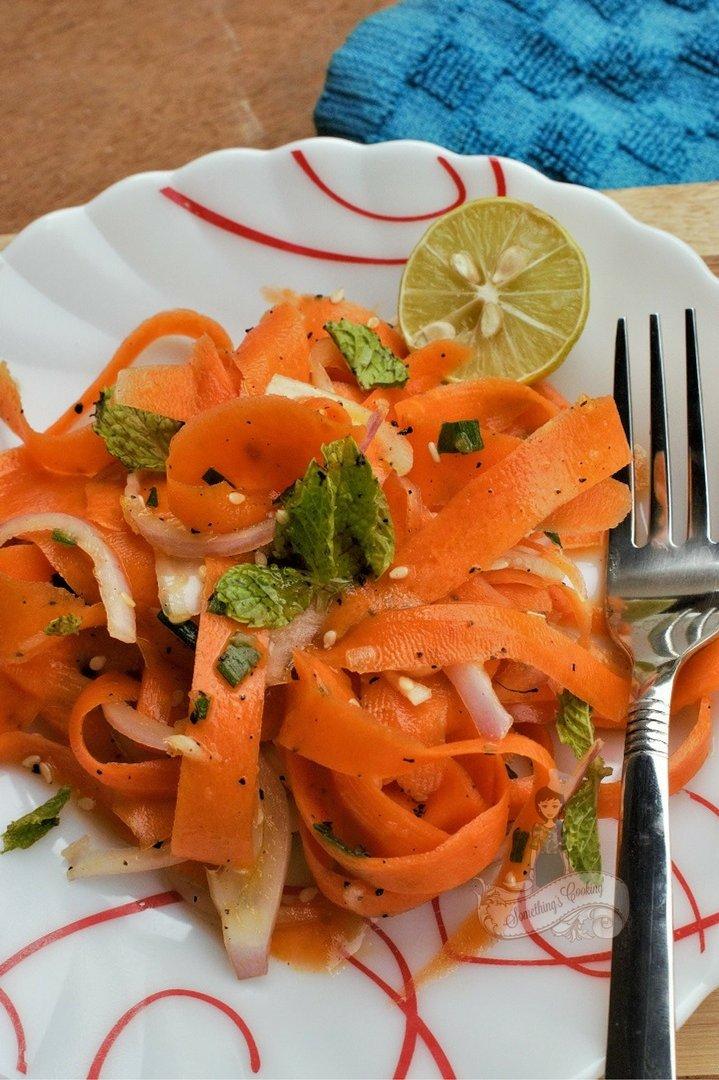 Carrot Ribbon Salad with Sesame Honey Dressing